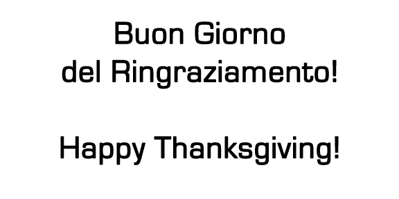 happy thanksgiving in italian