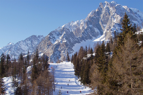 monte bianco skiing